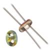 Twin 2-hole Bead 2.5x5mm Crystal/vitrail